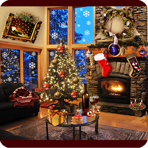 Christmas Fireplace LWP v1.09