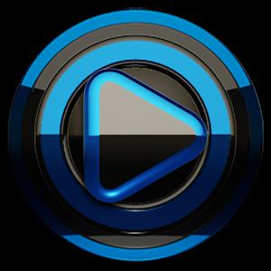Poweramp skin Black Blue v1.41
