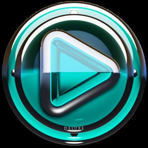 Poweramp skin Turquoise Glas v1.33