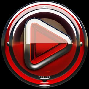 Poweramp skin Red Glas deluxe v1.33
