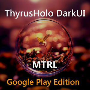 DarkMTRL ThyrusHolo CM11 Theme v3.6