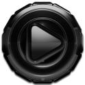 Poweramp skin Black Glow v1.42