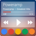 Poweramp skin Now Transparent v1.0.2