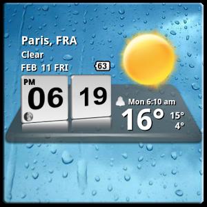 تطبيق الطقس بواجهة رائعة 3D Digital Weather Clock v4.2.3 Android 1418465338_globalapk
