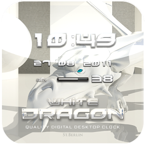 White Dragon Clock Widget v2.16