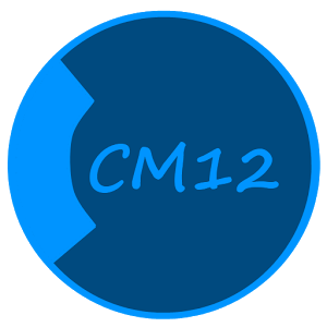 CM12 Theme Dark Black Blue v1.7