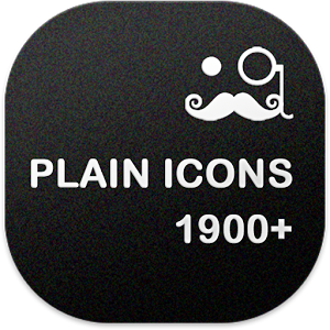 PLAIN ICONS APEX/NOVA/ADW/GO v1.8.0