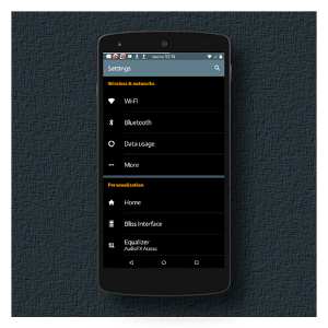 Black MTRL BlueGrey CM12 Theme v2.2