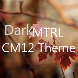 DarkMTRL Thyrus CM12 Theme v2.1