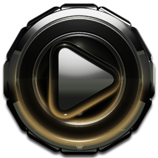 Poweramp skin Gold Glow v3.10