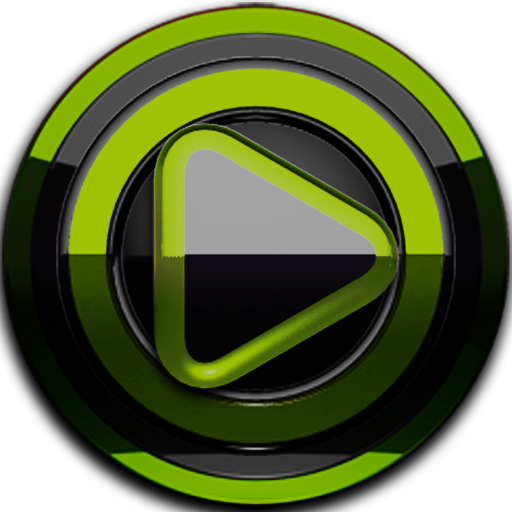 Poweramp skin Black Lime v3.10