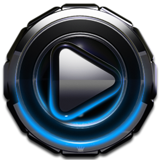 Poweramp skin Light Blue Glow v3.10