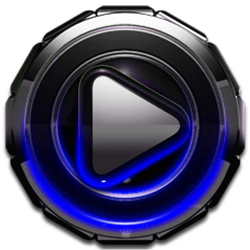 Poweramp skin Blue Glow v3.10