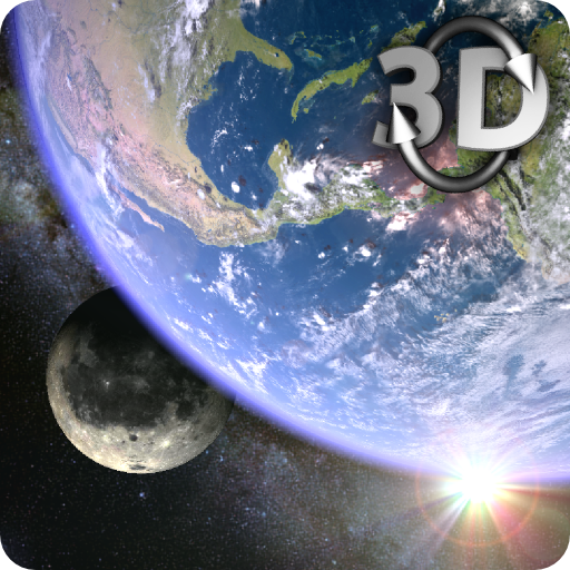 Earth & Moon in HD Gyro 3D Parallax Live Wallpaper v2.7