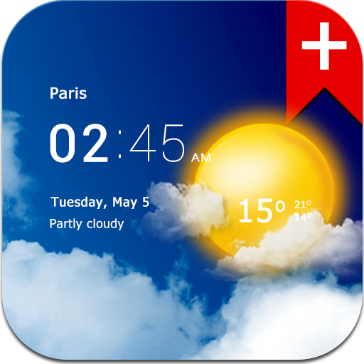 Transparent clock weather (Ad-free) v1.99.01
